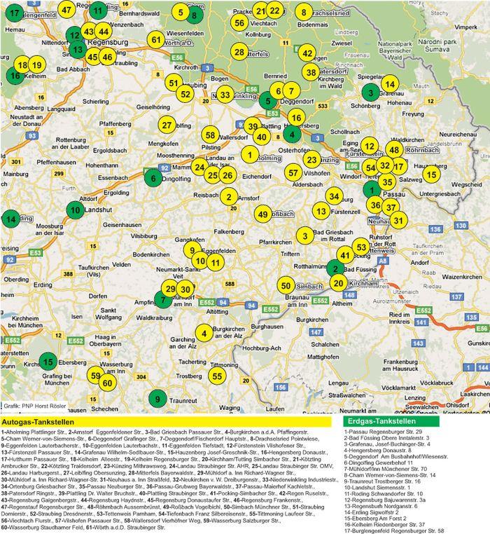 Gas Tankstellen Regiowiki Niederbayern